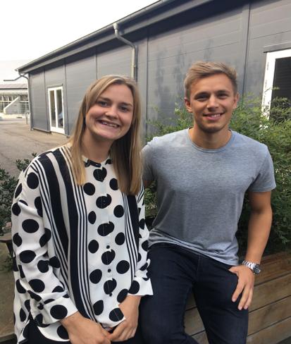 De to nyansatte lærere i FMKB, Line Helle Lauritzen og Thøger Rasmussen